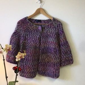 Relativity beautiful colors wool blend cape sweatr